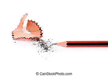 Pencil Shavings with white background