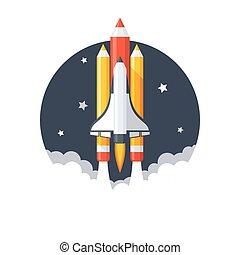 Pencil Shuttle Launch