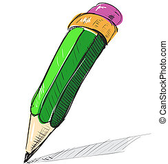 Pencil sketch cartoon vector illustration