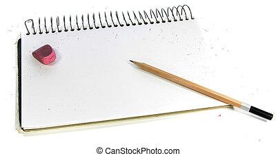 Pencil & sketchbook