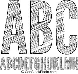 Pencil  sketched font