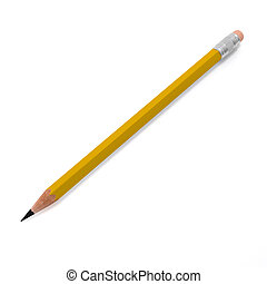 Pencil - pencil on a white background isolated