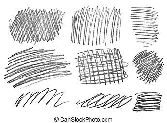 pencil strokes art craft