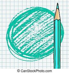 Pencil strokes blank green frame