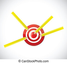 pencil target darts illustration design