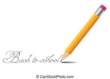 Pencil vector background back to school