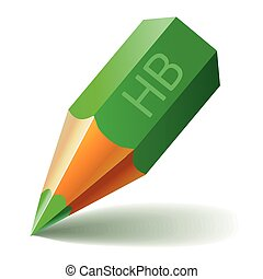 Pencil Vector Icon Green