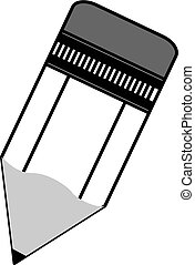 Pencil vector icon in black on a white background.