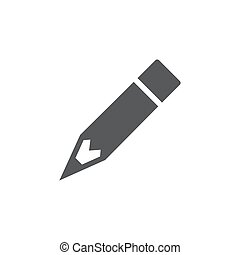 Pencil Vector Icon on white background