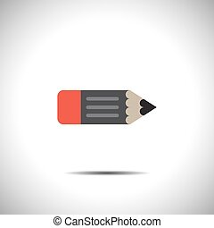 pencil vector icon with eraser