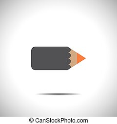 pencil vector icon with flat look