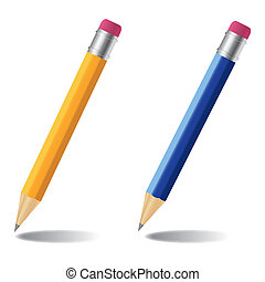 Pencil vector illustration set. Eps 10.