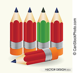 Pencil vector illustration set. Eps 10.