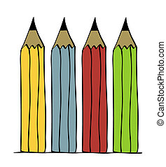 Pencil vector illustration set