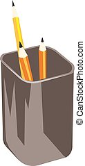 Pencil vector on a white background.