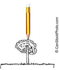 pencil with back to school concept