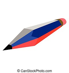 Pencil with the flag of Russia
