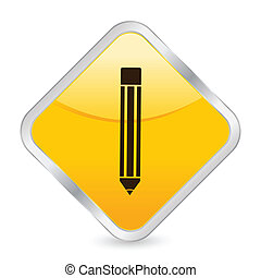 pencil yellow square icon