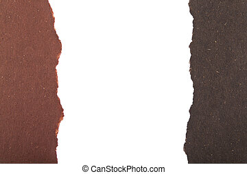Penciled color cardboard isolated on white background