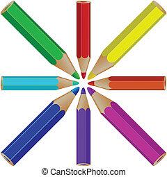 pencils against white