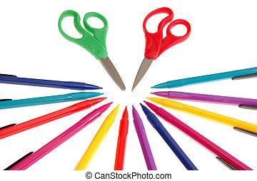 pencils and scissor