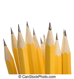 pencils., groupe, dièse