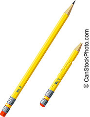 Pencils - Vector illustration of pencils, new and used.