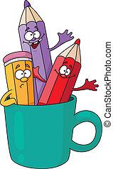 pencils in a mug