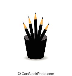 pencils in box