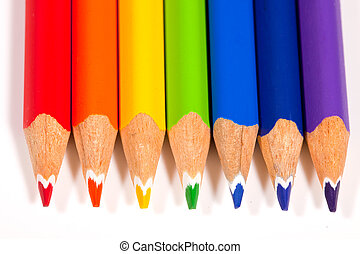 Pencils in Color of Rainbow