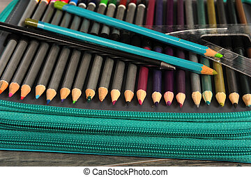 Pencils in Pen Case