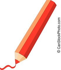 Pencils Isolated on A White Background. Vector illustration.