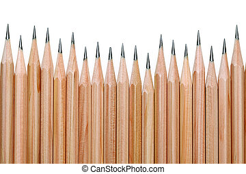 pencils - black pencil isolated on white background