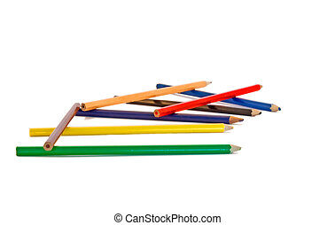 Pencils scattered
