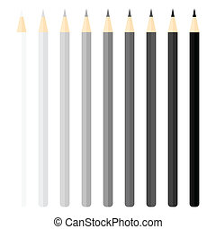 Pencils set. Vector illustration.