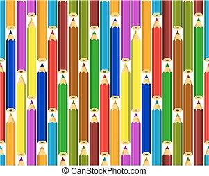 pencils., sfondo colorato