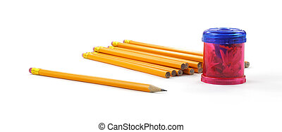 Pencils with sharpener
