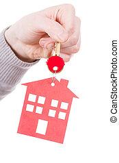 pendant., σπίτι , δακτυλίδι , κλειδί