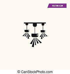 pendant., 黒, 天井ランプ, シャンデリア