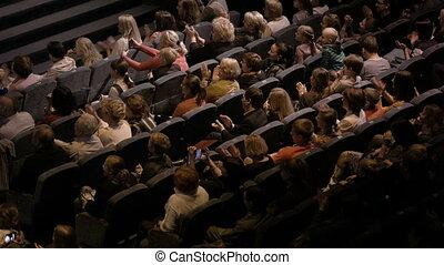pendant, audience, applaudir, événement, spectaculaire