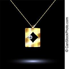 pendant card suit diamonds