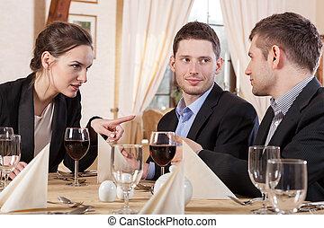 pendant, collègues, réunion, business
