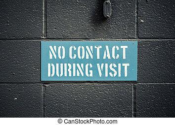 pendant, contact, visite, non