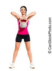 pendant, girl, exercice, fitness