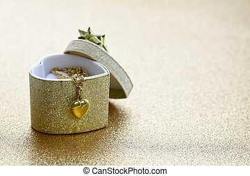 pendant gold heart - a gift for the holiday