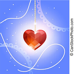 pendant heart-crystal