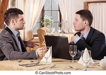pendant, hommes, réunion, business
