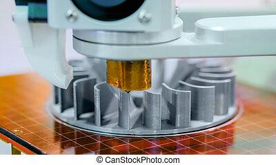pendant, imprimante, travail, fabrication, 3d