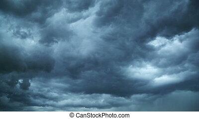 pendant, orage, éclair