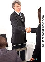 pendant, réunion, fonctionnement, équipe